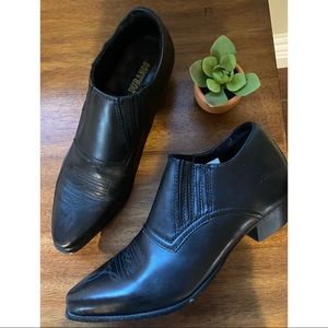 Durango Black Leather Western Booties Ankle Boots
